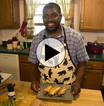 Cooking with Dad: Chicken Chicken Wraps