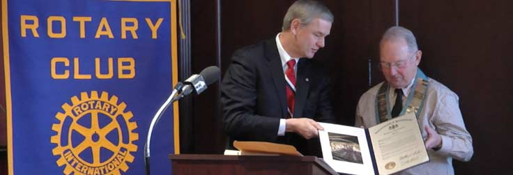 Rep. Baker Honors Rotary