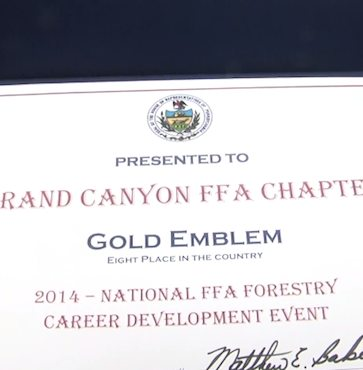 Matt Baker Awards Grand Canyon FFA