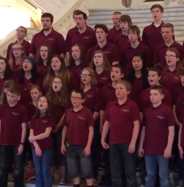 Hamilton-Gibson Choirs at the Capitol