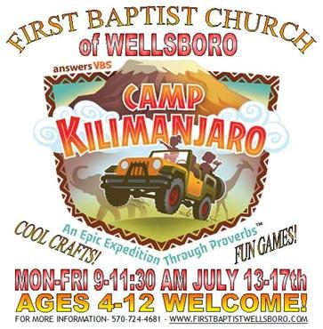 Climb to Camp Kilimanjaro VBS!