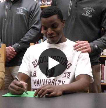 Smethers Commits to Football at Bloomsburg