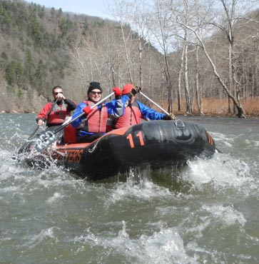 Rafting on Pine Creek