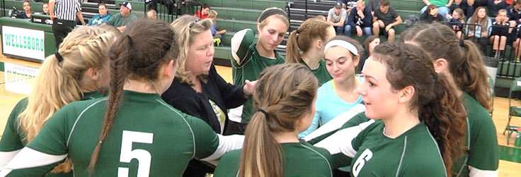 Wellsboro Volleyball Sweeps CV, 3-0