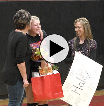 Lady Mounties Volleyball wins Senior Night