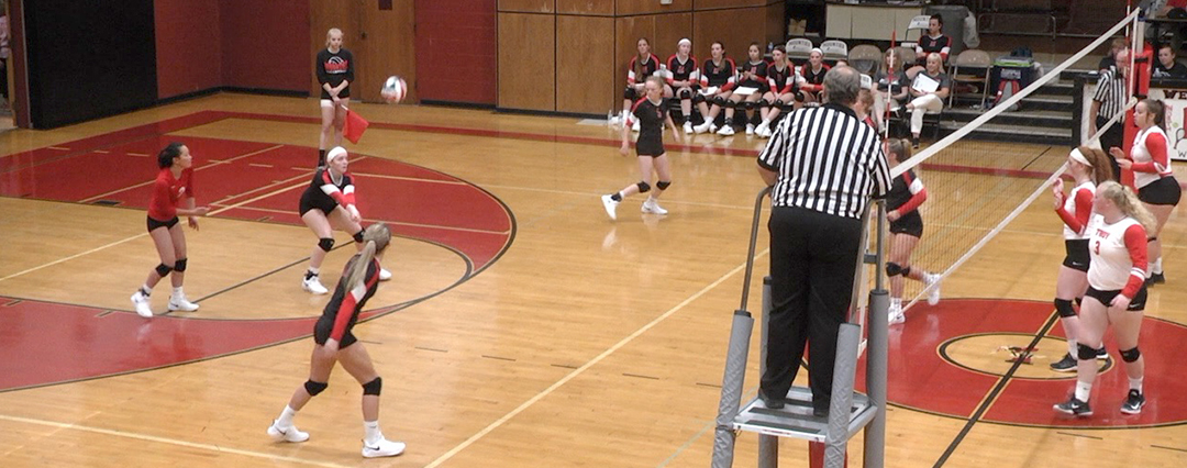 Lady Mounties sweep Troy