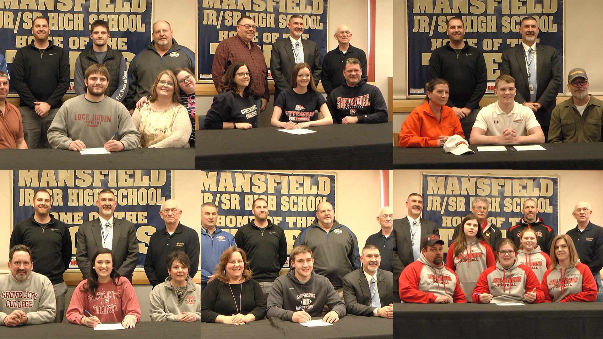 Six STSD Students Sign To College Athletics