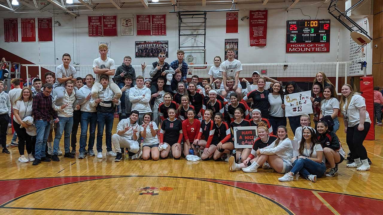Liberty Volleyball Sweeps Wellsboro