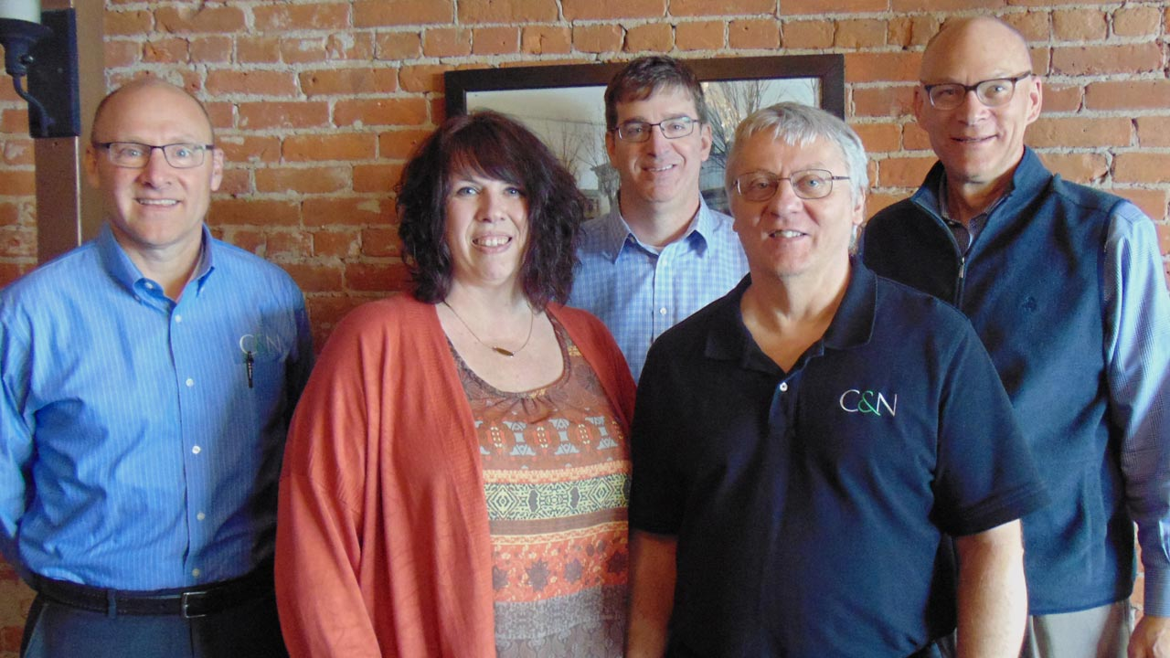 Four C&N Employees Earn Service Awards