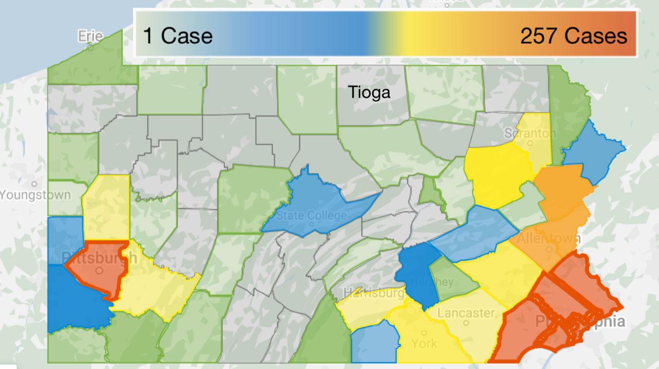 COVID-19 PA County Testing