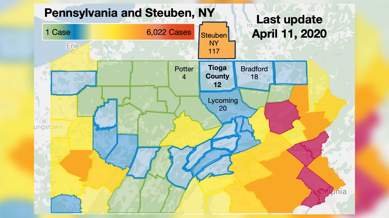 COVID-19 PA County Testing – Numbers Rise