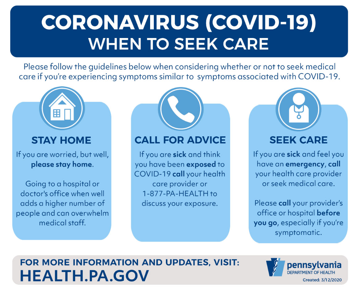 when to seek care for Coronavirus (COVID-19)