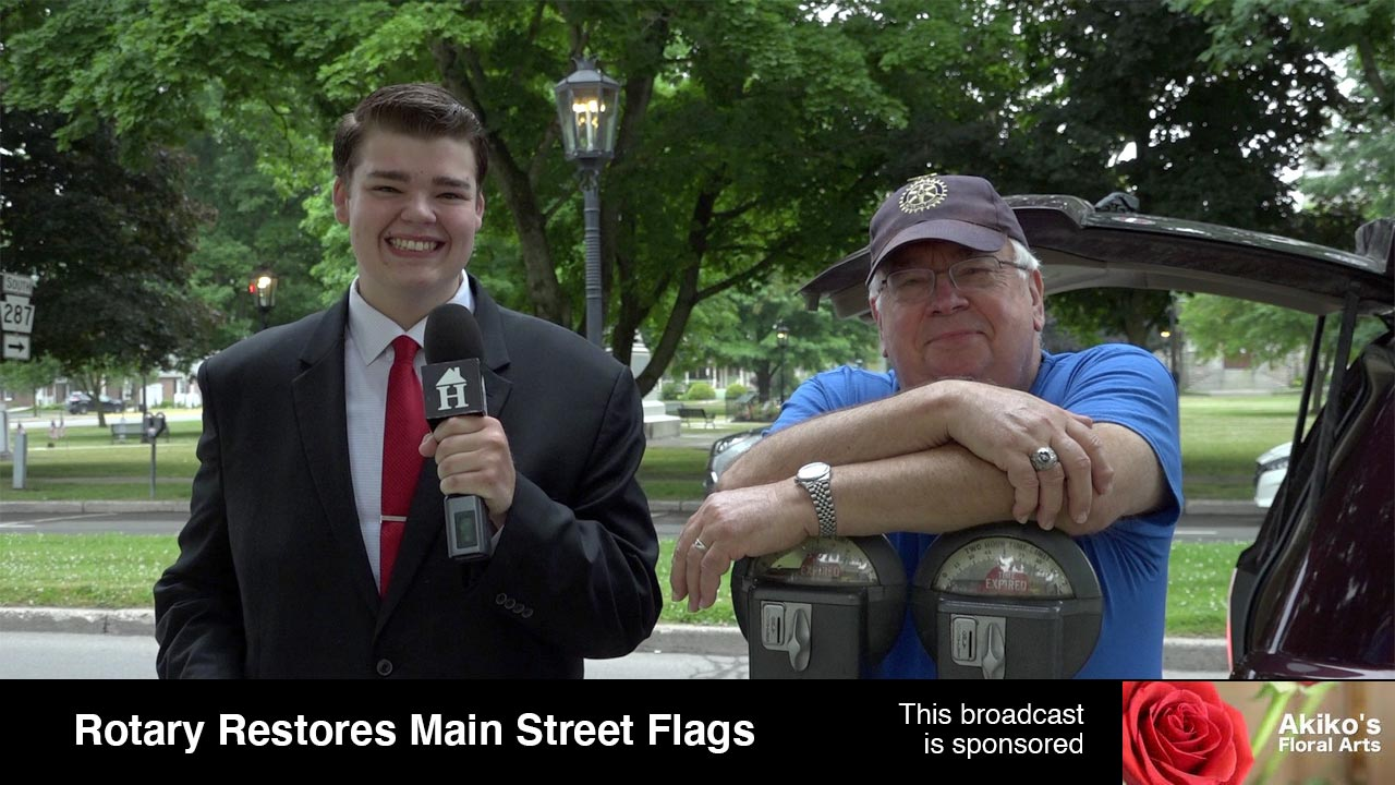 Rotary Restores Main Street Flags