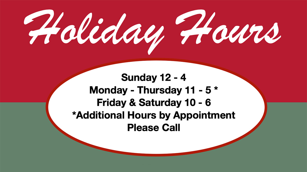 Dunham's Holiday Hours