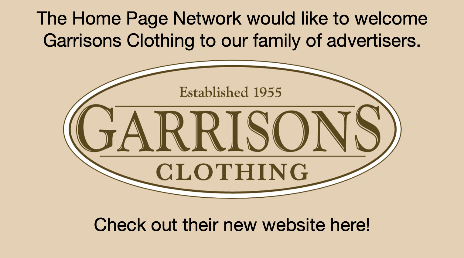 Garrison's Clothing
