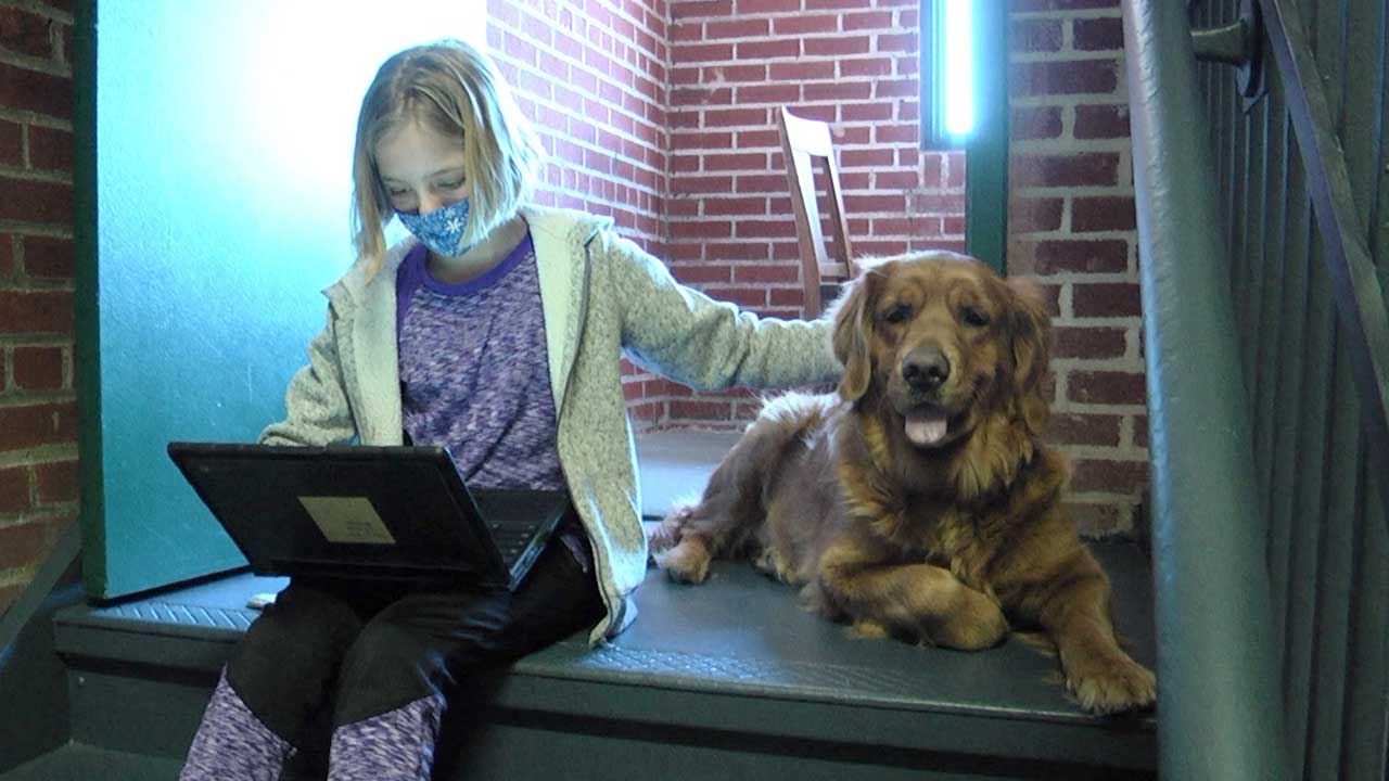 "Therapy Dog ""Daisy"" Comforts Kids"