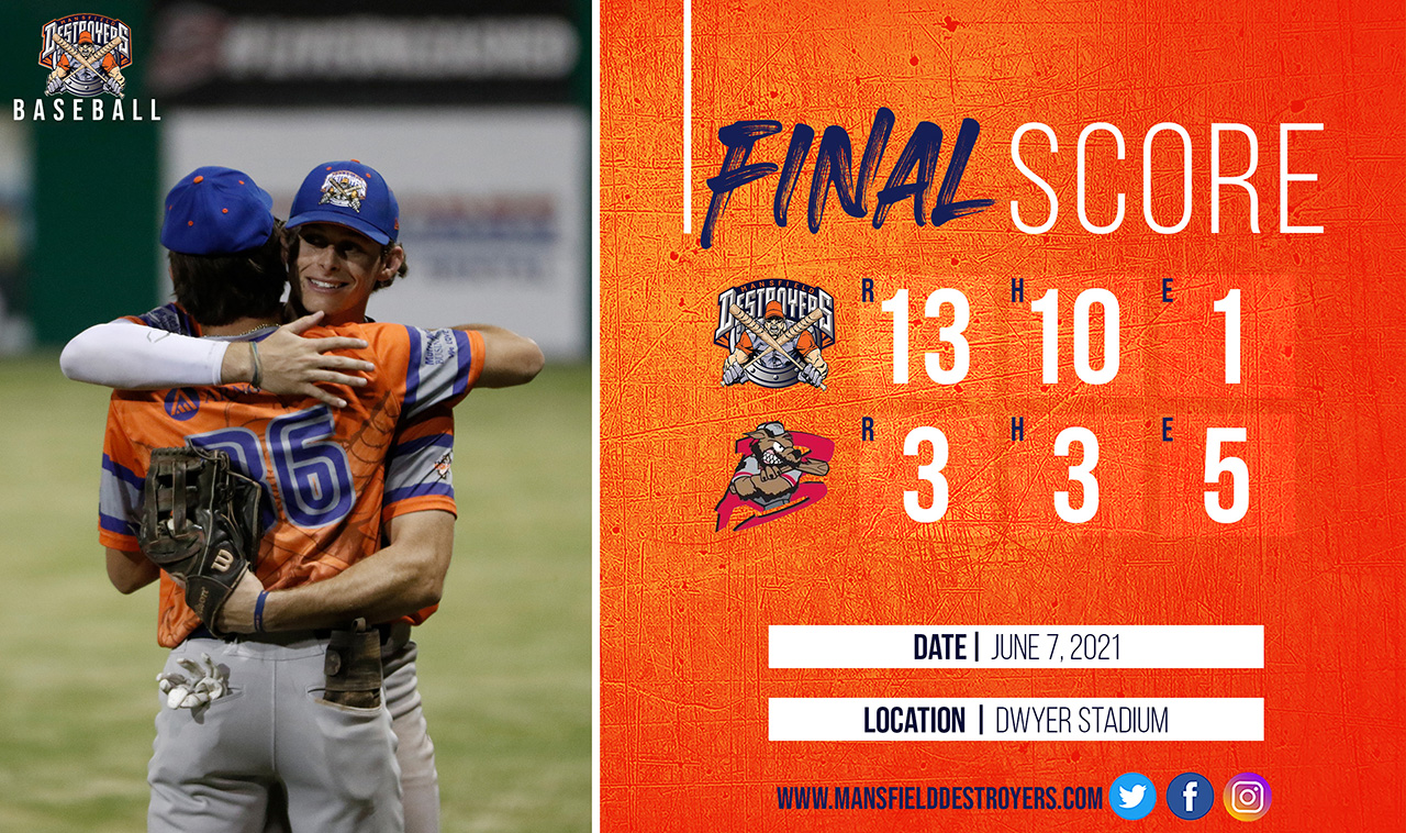 Destroyers Take The Win on their 2021 Season Opener